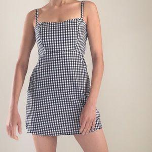 Dresses & Skirts - Gingham black and white mini dress